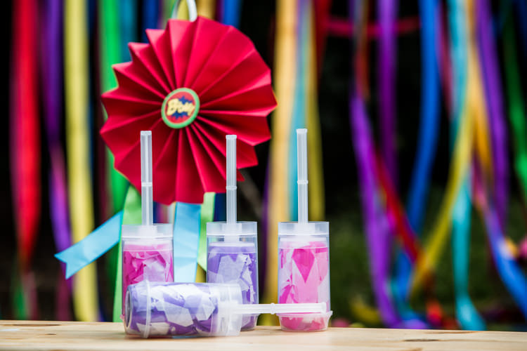 Confetti Pops Colourful Vintage Comic Book Wedding Ideas http://www.hayleypettitphotography.com/