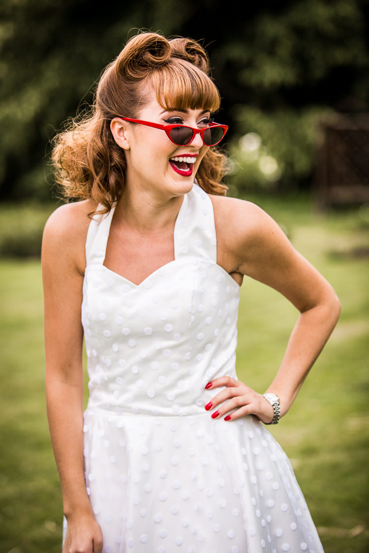 Sunglasses Bride Bridal Style Colourful Vintage Comic Book Wedding Ideas http://www.hayleypettitphotography.com/