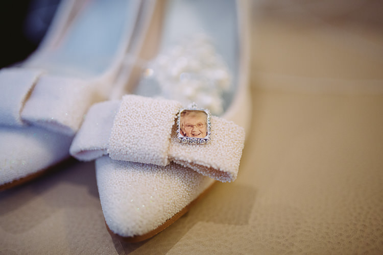 White Bow Shoes Locket Bride Bridal Magical Winter Rustic Wonderland Wedding http://hayleybaxterphotography.com/