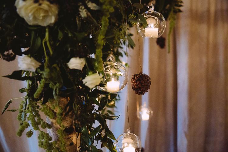 Tea Lights Candles Decor Magical Winter Rustic Wonderland Wedding http://hayleybaxterphotography.com/