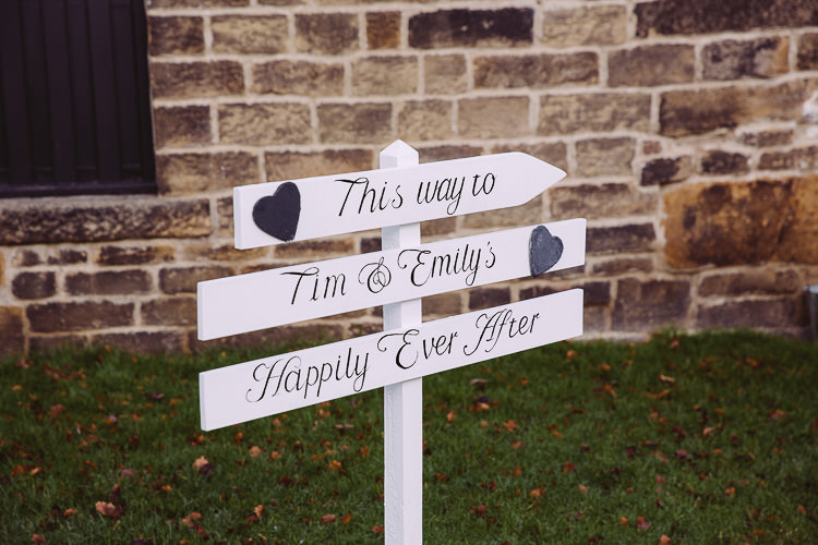 Sign Post White Magical Winter Rustic Wonderland Wedding http://hayleybaxterphotography.com/