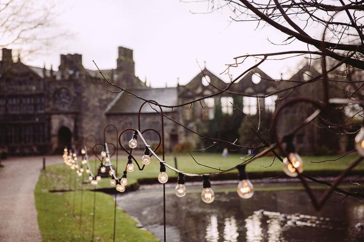 Festoon Lights Outdoor Magical Winter Rustic Wonderland Wedding http://hayleybaxterphotography.com/