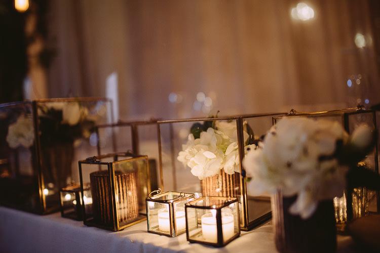 Candles Flowers Decor Top Table Centrepiece Magical Winter Rustic Wonderland Wedding http://hayleybaxterphotography.com/