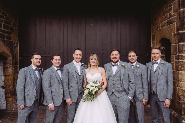 Grey Tweed Bow Ties Groomsmen Magical Winter Rustic Wonderland Wedding http://hayleybaxterphotography.com/