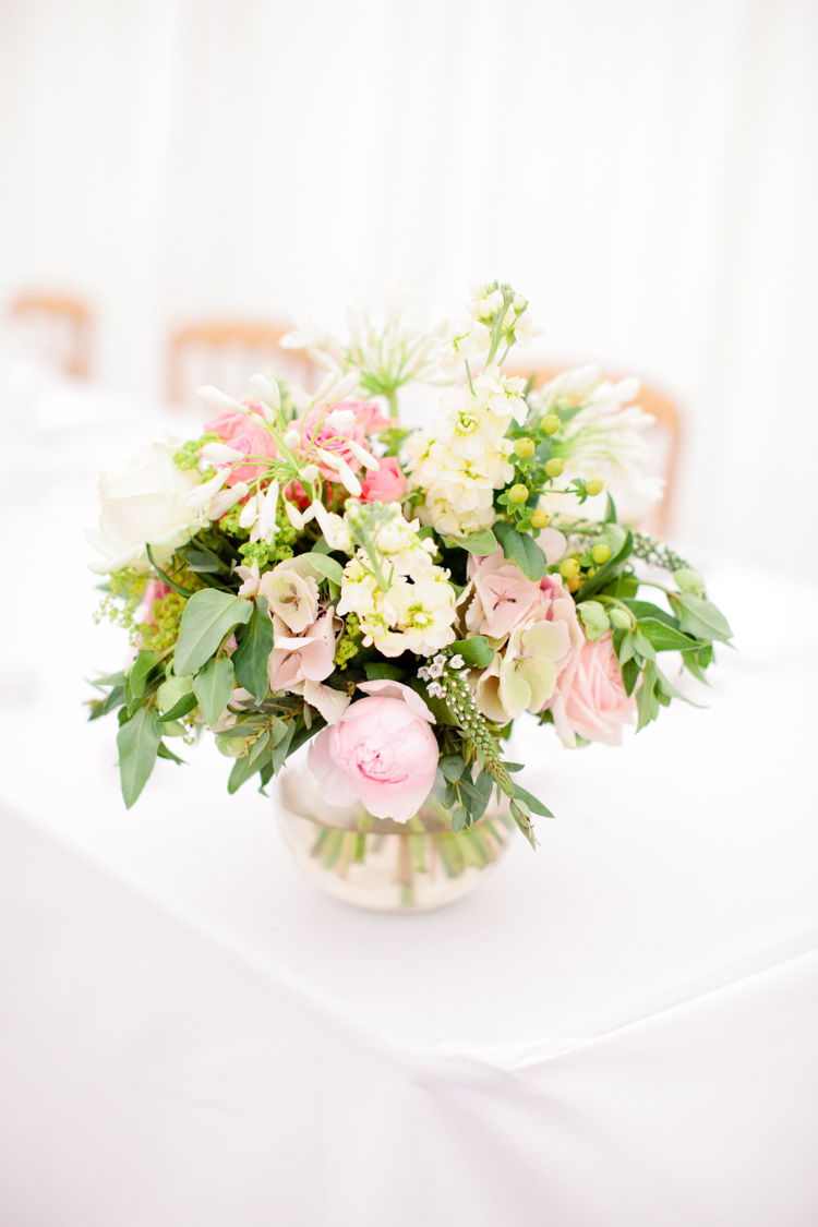 Cream Flowers Vase Decor Table Centrepiece Peony Pretty Pink Garden Party Wedding http://www.helencawtephotographyblog.com/
