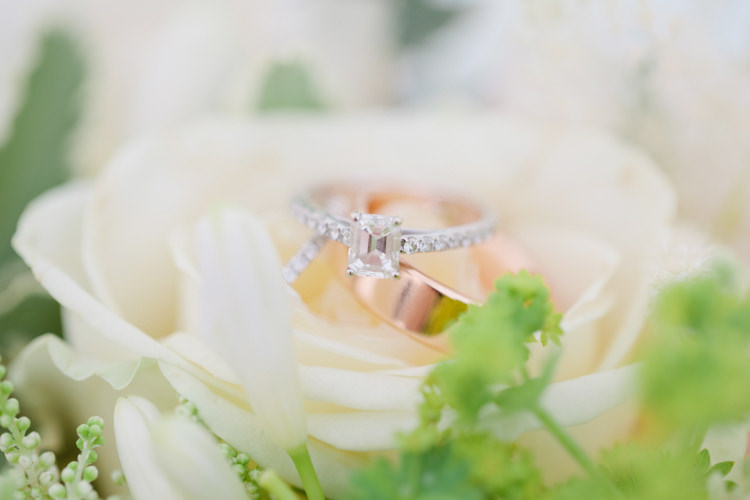 Rose Gold Ring Band Bride Engagement Diamond Pretty Pink Garden Party Wedding http://www.helencawtephotographyblog.com/