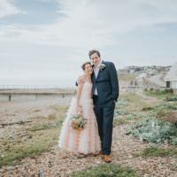 Whimsical Seaside Wedding Pale Pink Dress http://devlinphotos.co.uk/