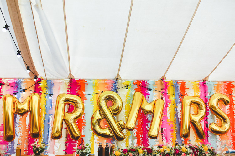 Giant MR MRS Balloons Decor Bright Colourful Fun Marquee Wedding http://www.livvy-hukins.co.uk/