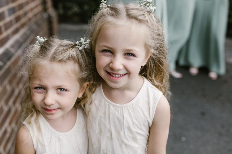 Flower Girls Natural Sage Green Farm Wedding https://www.loveluella.co.uk/