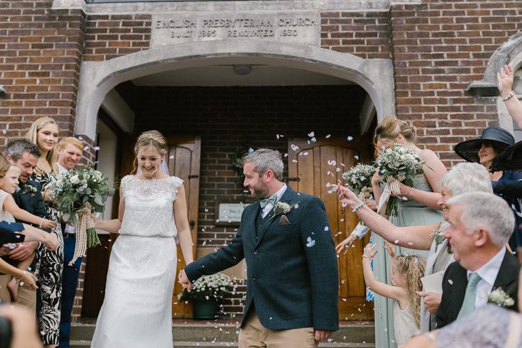 Confetti Throw Natural Sage Green Farm Wedding https://www.loveluella.co.uk/