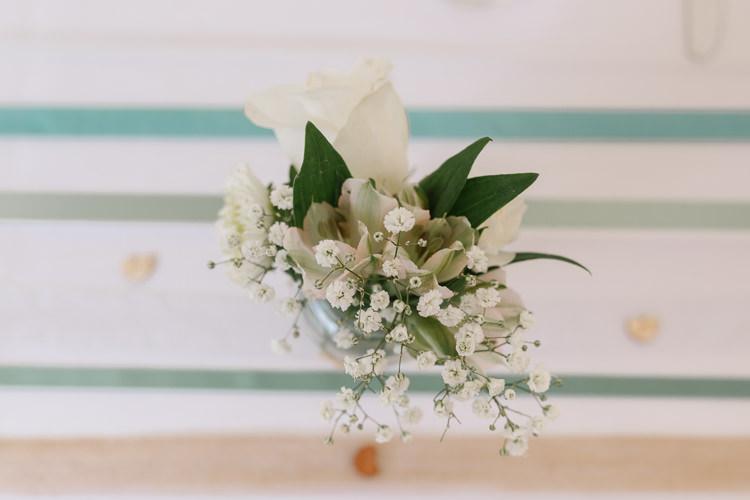 Table Flowers Jar Natural Sage Green Farm Wedding https://www.loveluella.co.uk/