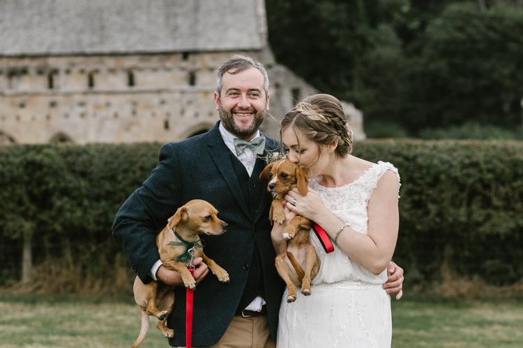 Dogs Pets Natural Sage Green Farm Wedding https://www.loveluella.co.uk/