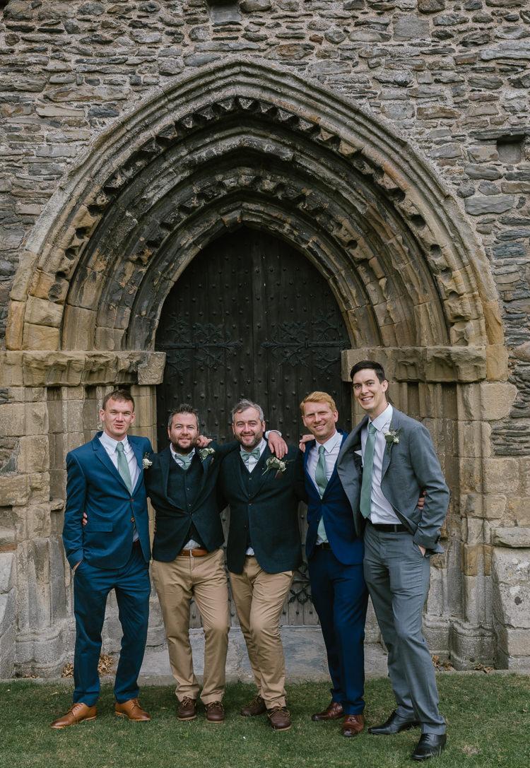 Mismatched Groom Groomsmen Bow Tie Chinos Blazer Natural Sage Green Farm Wedding https://www.loveluella.co.uk/