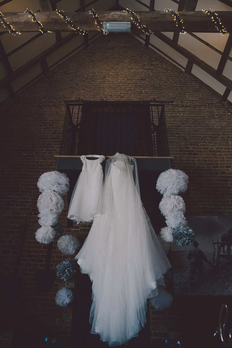 Dresses Pom Poms Chic Rustic Grey Barn Wedding http://www.kevelkinsphotography.co.uk/