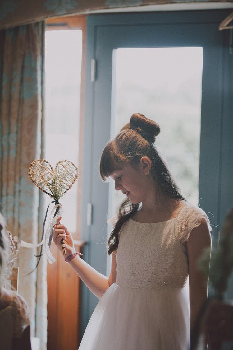 Flower Girl Heart Wand Chic Rustic Grey Barn Wedding http://www.kevelkinsphotography.co.uk/