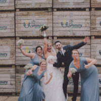 Chic Rustic Grey Barn Wedding http://www.kevelkinsphotography.co.uk/