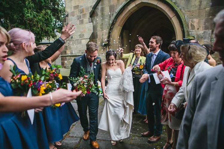 Confetti Blue by Enzoani Ted Baker Groom Harris Tweed Waistcoat Relaxed Cosy Stylish Autumnal Wedding http://www.tierneyphotography.co.uk/