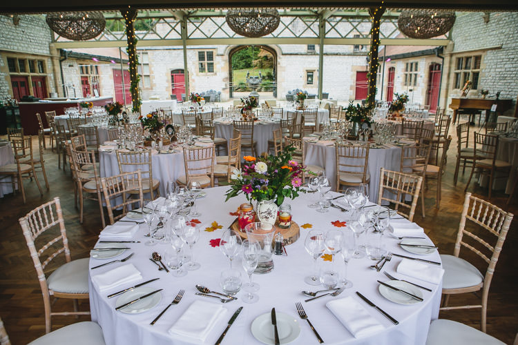 Thornbridge Hall Autumn Table Settings Relaxed Cosy Stylish Autumnal Wedding http://www.tierneyphotography.co.uk/