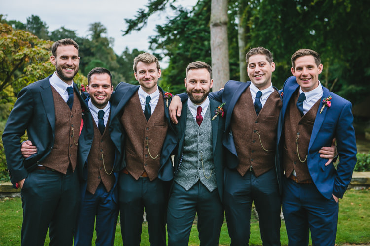 Ted Baker Groom Harris Tweed Waistcoats Relaxed Cosy Stylish Autumnal Wedding http://www.tierneyphotography.co.uk/