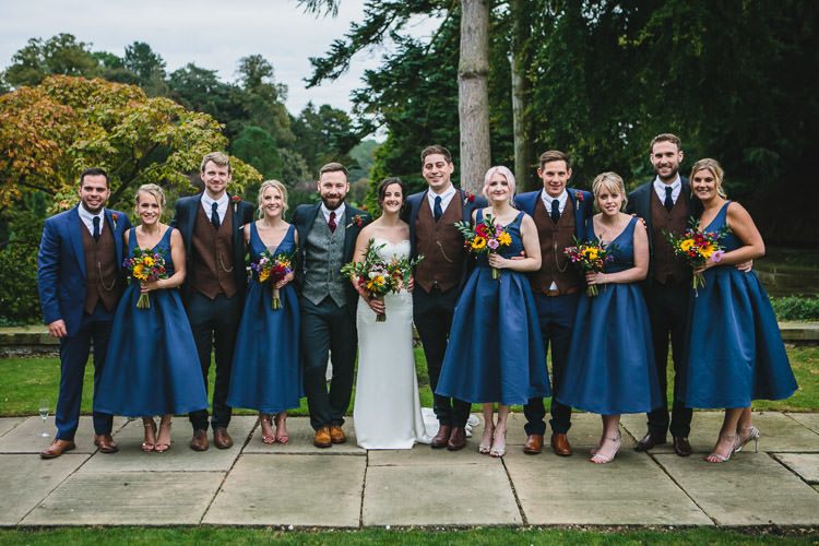 Blue by Enzoani Ted Baker Groom Harris Tweed Waistcoat Chi Chi London Bridesmaids ASOS Relaxed Cosy Stylish Autumnal Wedding http://www.tierneyphotography.co.uk/