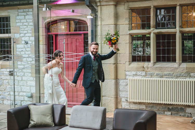 Thornbridge Hall Blue by Enzoani Ted Baker Groom Harris Tweed Waistcoat Relaxed Cosy Stylish Autumnal Wedding http://www.tierneyphotography.co.uk/