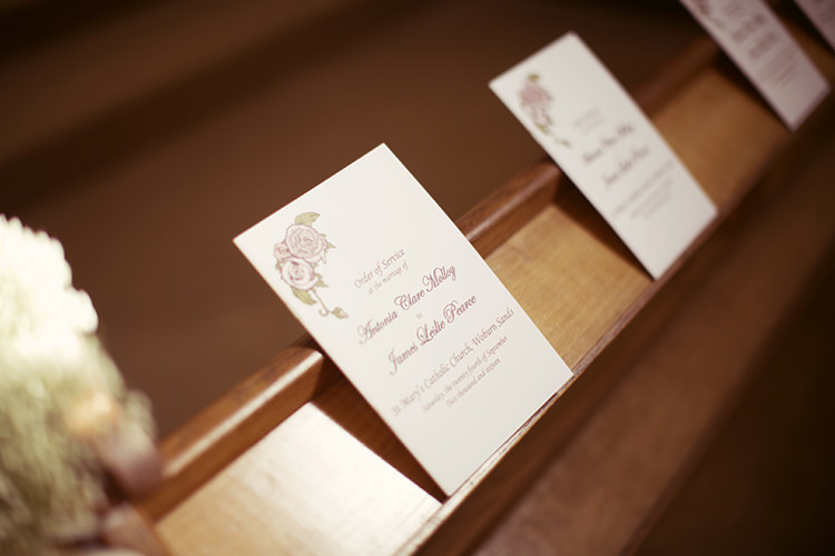 Floral Stationery Elegant Romantic Classic Pink Wedding http://www.rebeccaweddingphotography.co.uk/