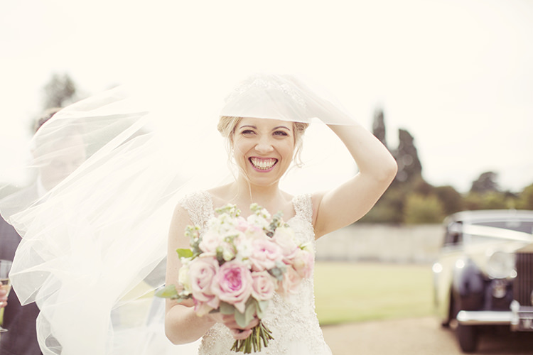 Veil Bride Bridal Elegant Romantic Classic Pink Wedding http://www.rebeccaweddingphotography.co.uk/