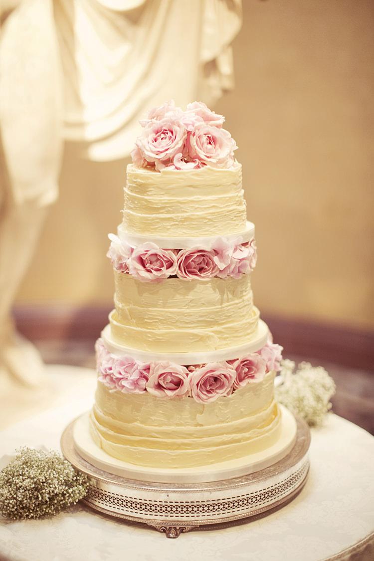 White Chocolate Cake Roses Elegant Romantic Classic Pink Wedding http://www.rebeccaweddingphotography.co.uk/