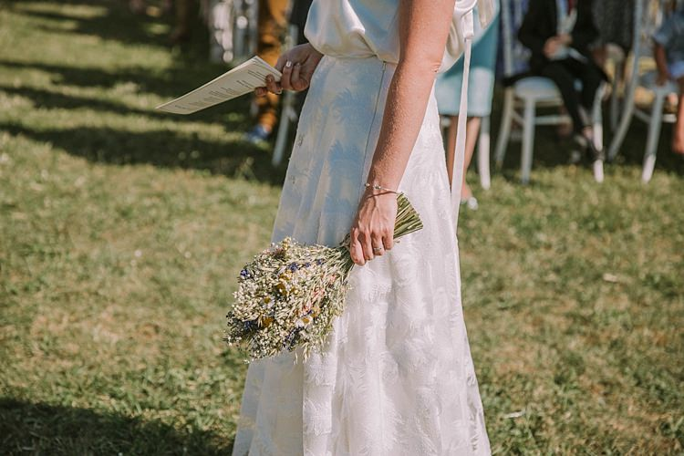 Dried Flower Bouquet Bride Bridal Summertime French Village Destination Wedding http://www.pippacarvellphotography.com/