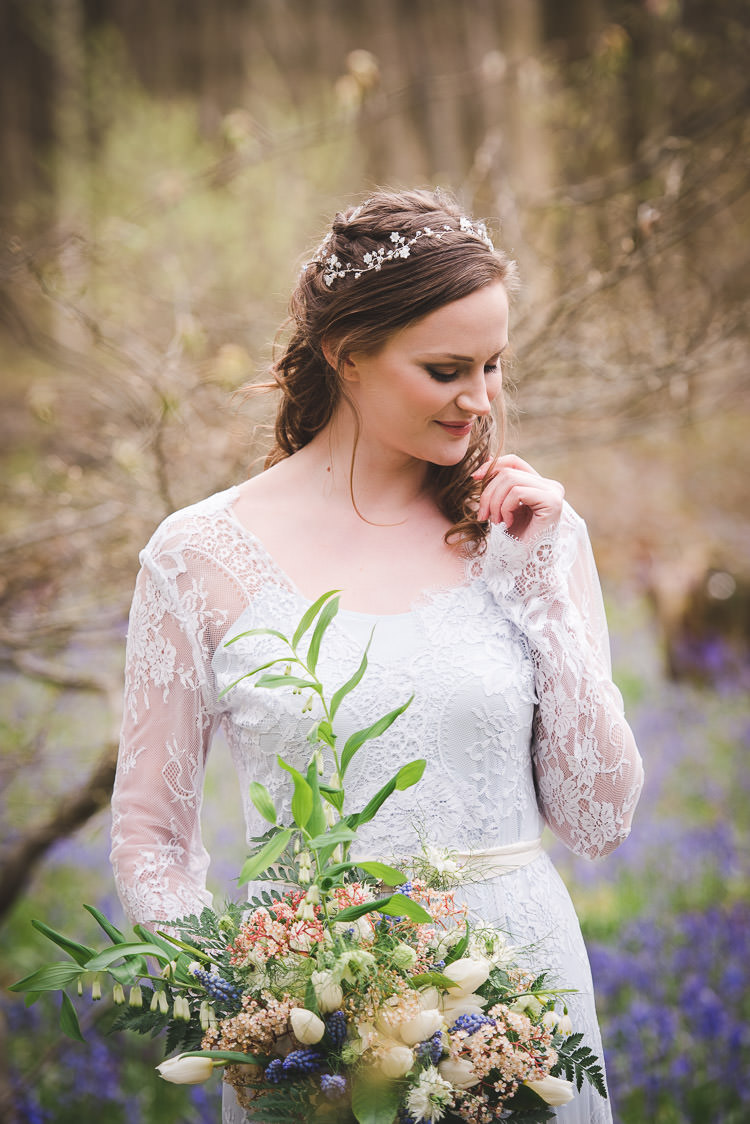 Hair Vine Bride Bridal Accessory Magical Spring Bluebell Woodland Wedding Ideas http://helinebekker.co.uk/