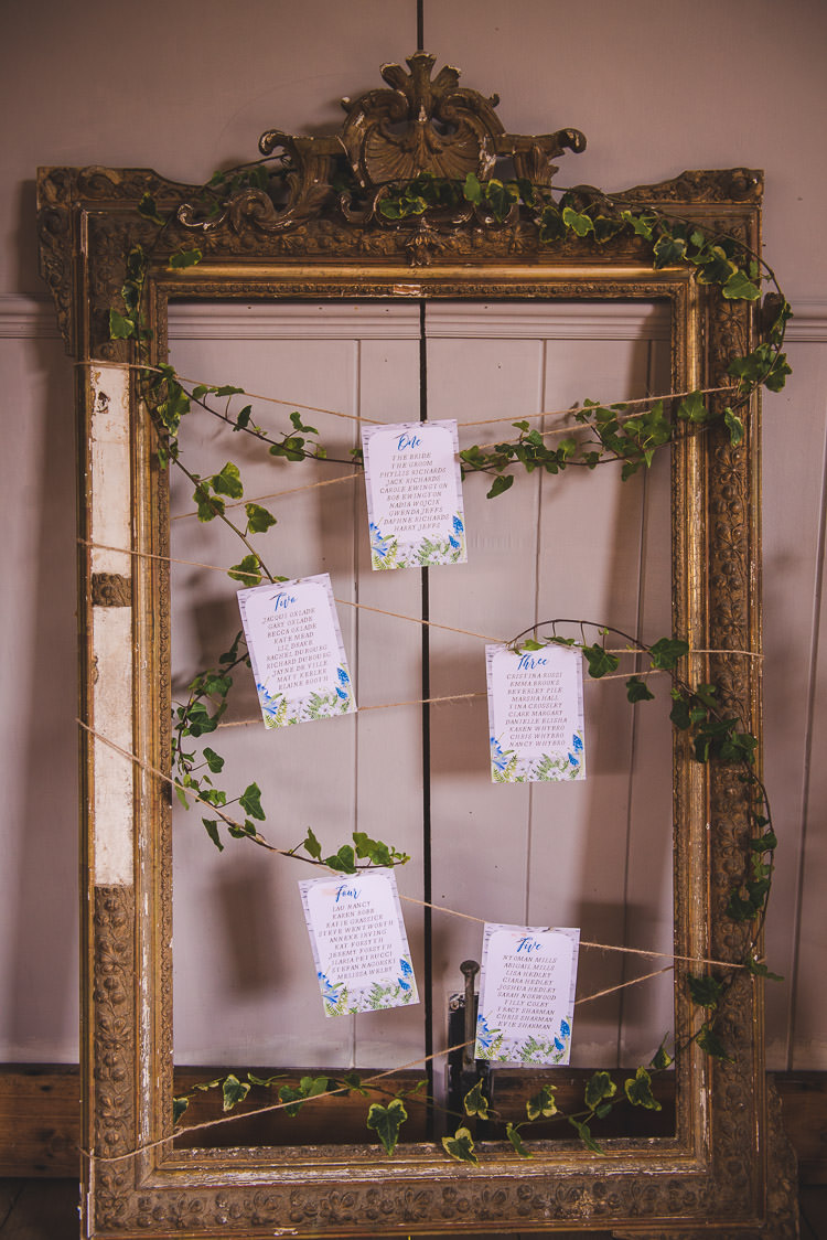 Frame Seating Plan Table Chart Magical Spring Bluebell Woodland Wedding Ideas http://helinebekker.co.uk/