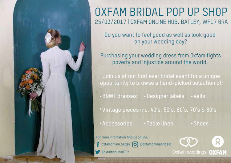 Oxfam Bridal Pop Up Event