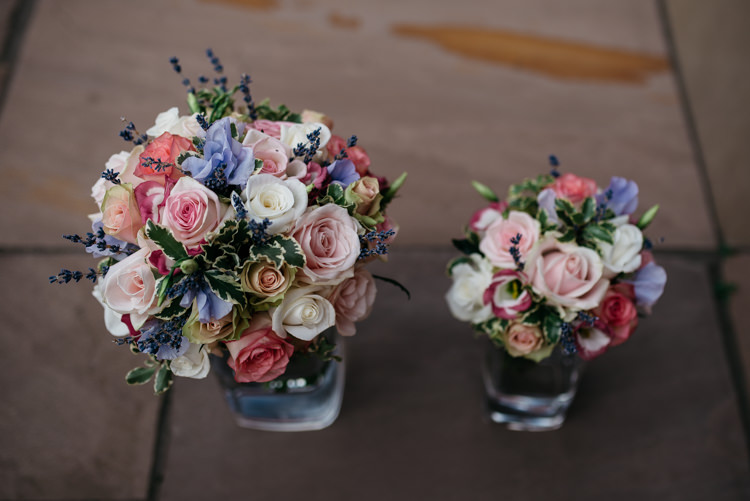 Pink Rose Bouquets Flowers Rustic Woodland Modern Wedding http://www.jennymacare.com/