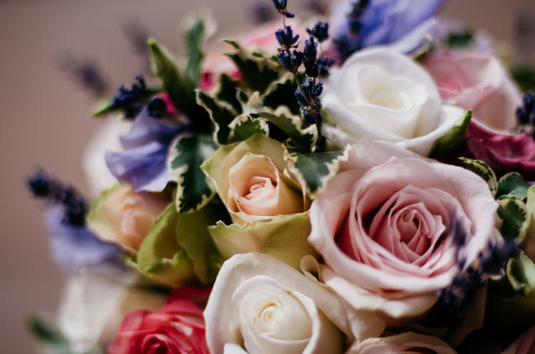 Pink Rose Lavender Flowers Rustic Woodland Modern Wedding http://www.jennymacare.com/