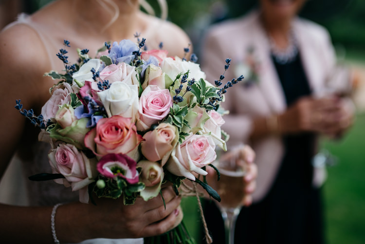 Bouquet Flowers Bride Bridal Pink Rose Lavender Rustic Woodland Modern Wedding http://www.jennymacare.com/