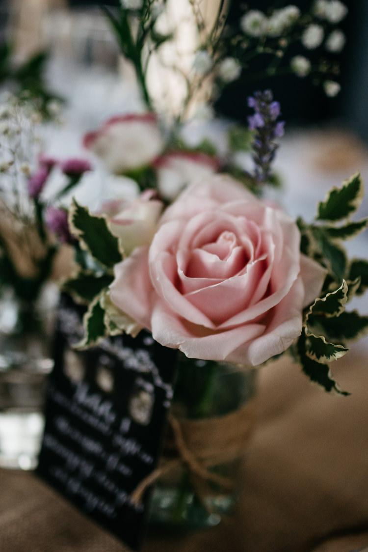 Rose Flowers Pink Jars Decor Rustic Woodland Modern Wedding http://www.jennymacare.com/
