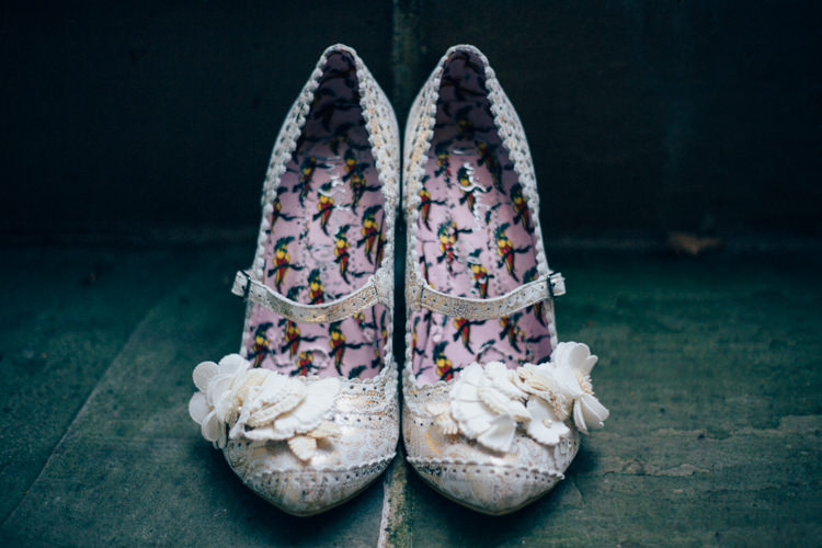 Irregular Choice Shoes Heartwarming Festive Winter Wedding http://www.nikkivandermolen.com/