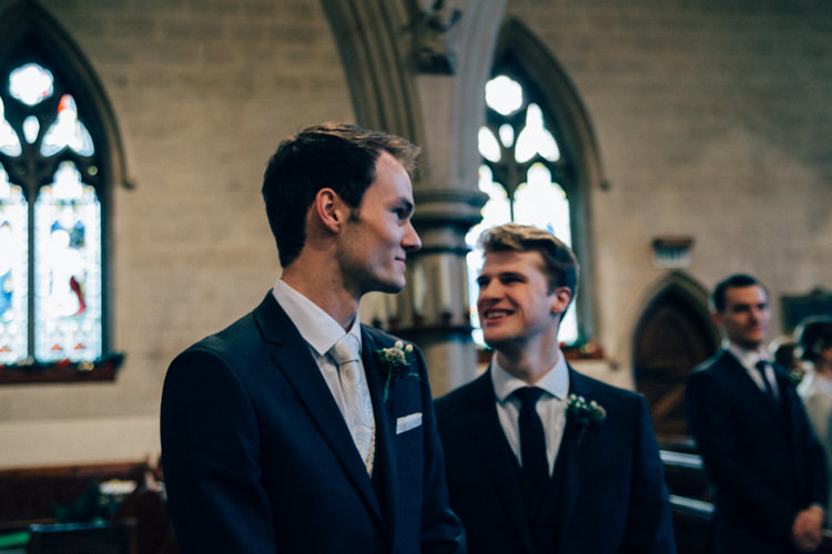 Groom DKNY Suit Moss Bros Heartwarming Festive Winter Wedding http://www.nikkivandermolen.com/