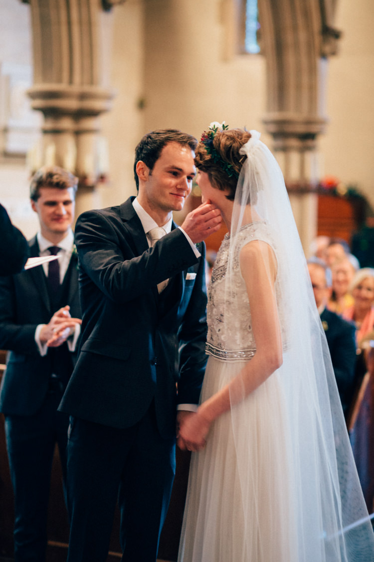 Needle & Thread DKNY Suit St Mary Oatlands Heartwarming Festive Winter Wedding http://www.nikkivandermolen.com/