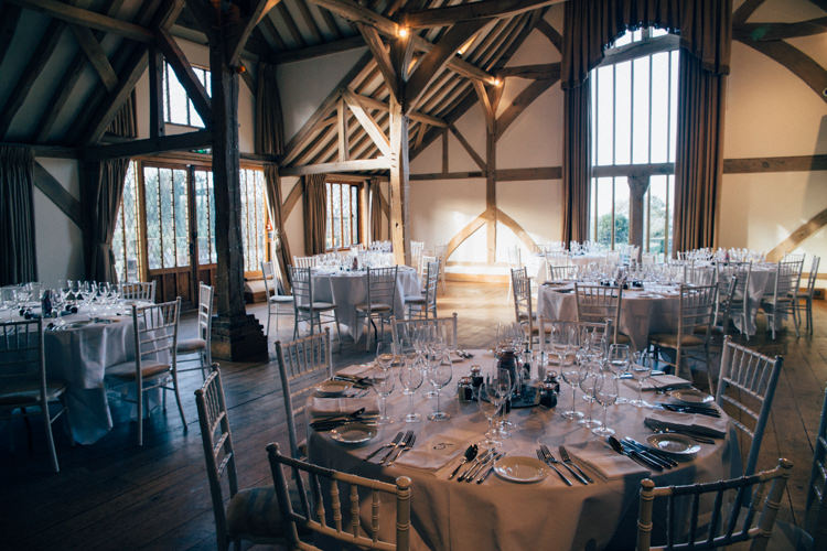 Cain Manor Simple Table Setting Heartwarming Festive Winter Wedding http://www.nikkivandermolen.com/