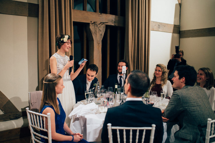 Bride Speech Cain Manor Heartwarming Festive Winter Wedding http://www.nikkivandermolen.com/