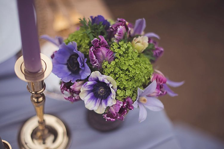 Flowers Decor Lilac Purple Green Violet Spring Luxe Wedding Ideas http://www.katieingram.co.uk/