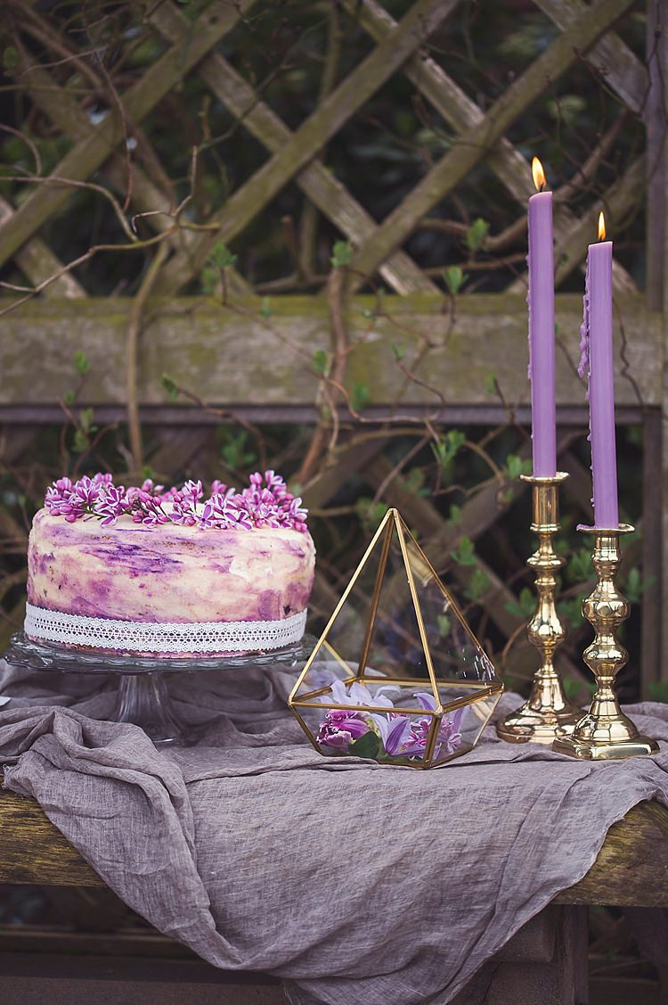 Buttercream Cake Rustic Violet Spring Luxe Wedding Ideas http://www.katieingram.co.uk/