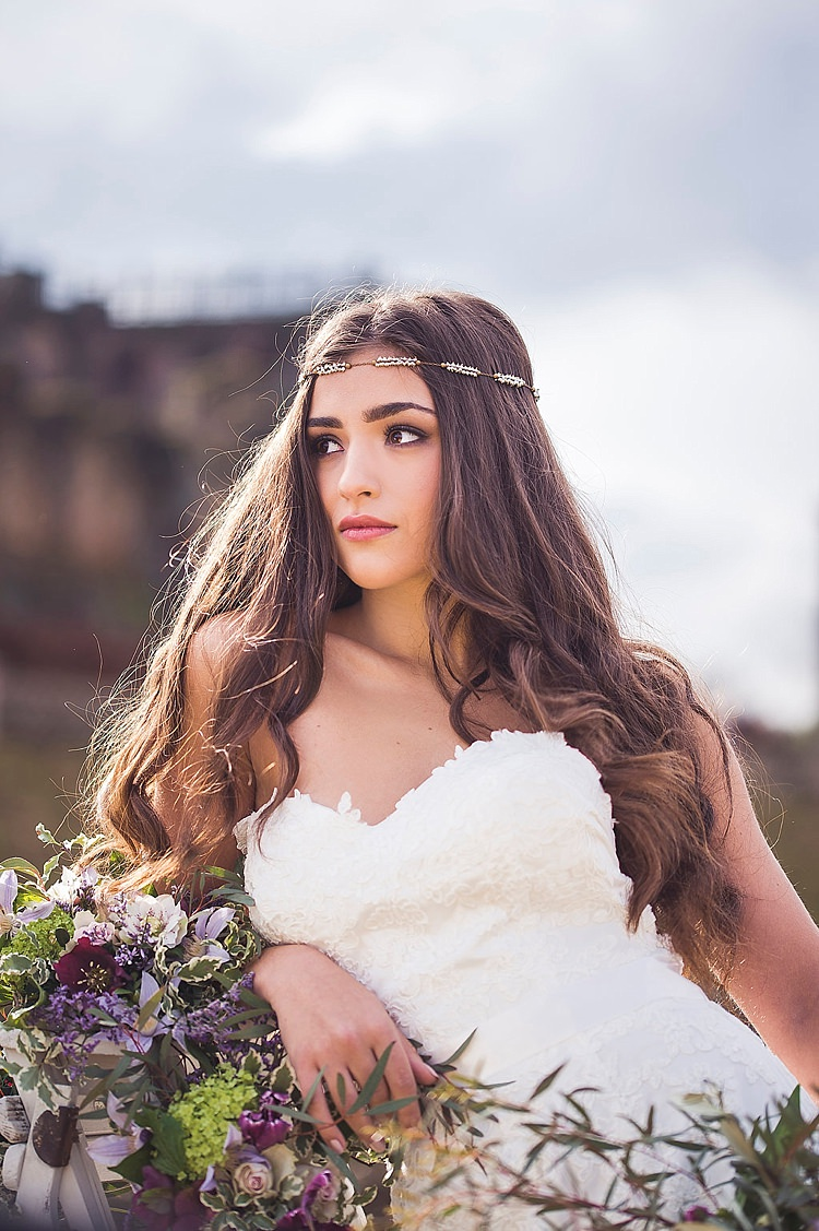 Bride Bridal Hair Long Style Violet Spring Luxe Wedding Ideas http://www.katieingram.co.uk/