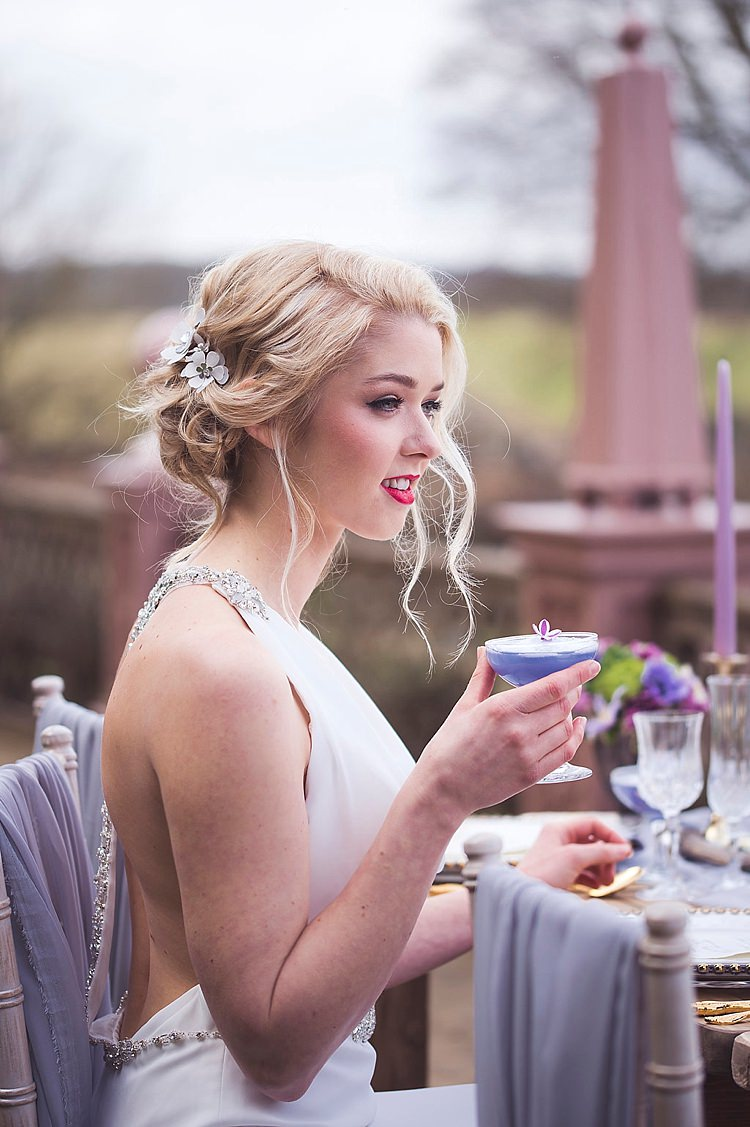 Hair Bride Bridal Up Do Rustic Style Violet Spring Luxe Wedding Ideas http://www.katieingram.co.uk/