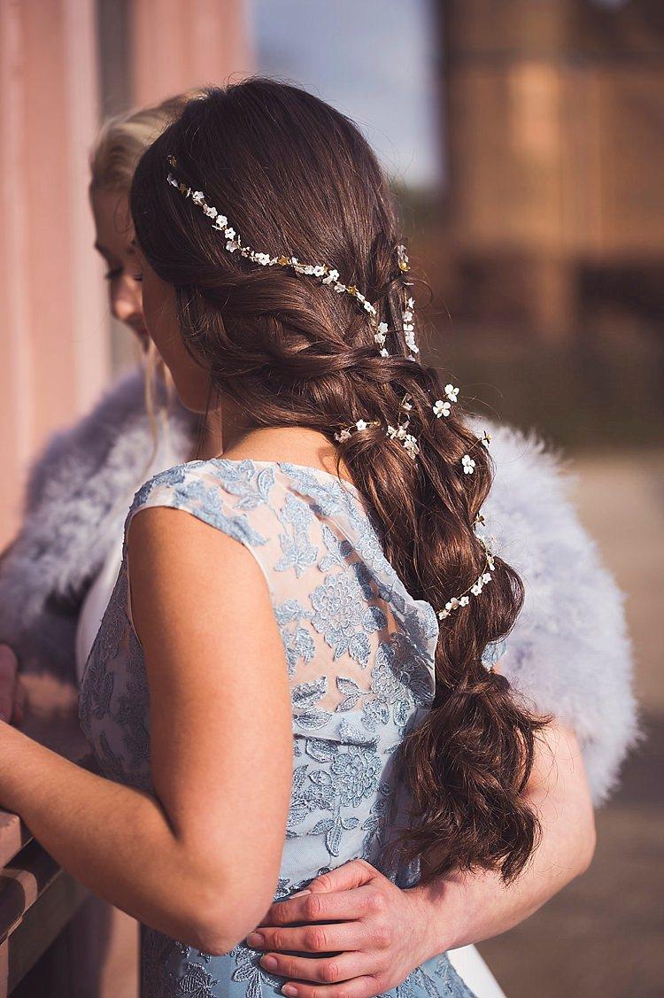 Hair Bride Bridal Style Plait Braid Long Hair Vine Violet Spring Luxe Wedding Ideas http://www.katieingram.co.uk/