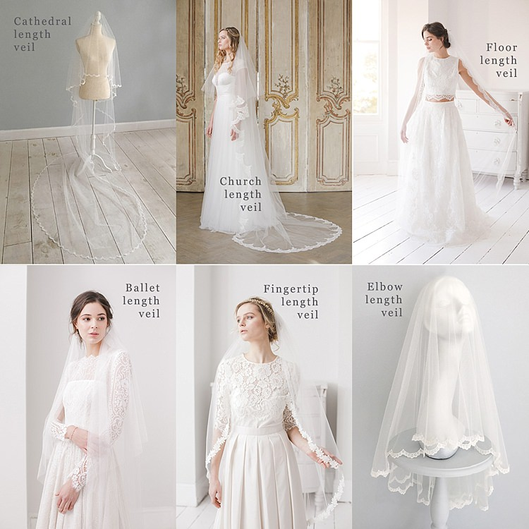 Wedding Veil Lengths Guide Bridal Accessory Inspiration Ideas Britten