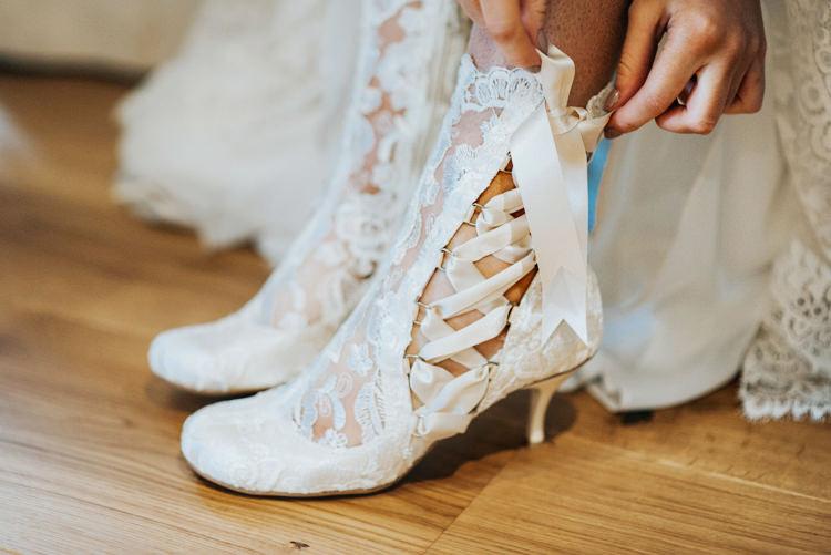Bridal Bride Boots Bohemian Mermaid Wedding Ideas https://www.elizaclaire.com/