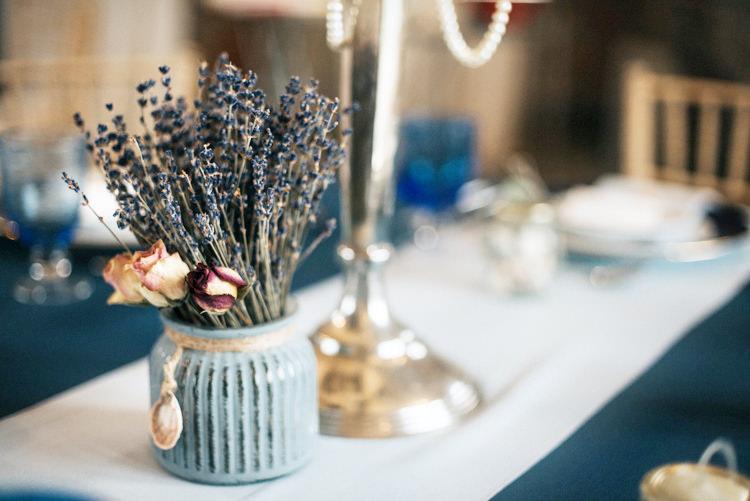 Lavender Vase Jar Bohemian Mermaid Wedding Ideas https://www.elizaclaire.com/