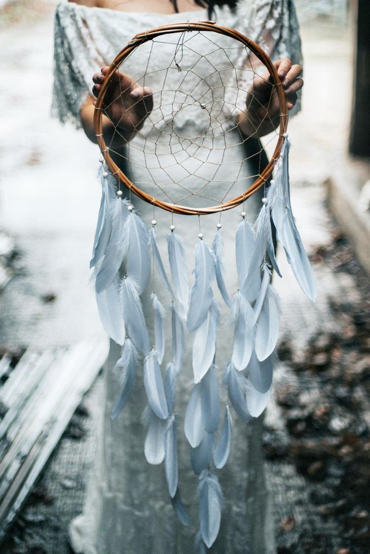Dream Catcher Bohemian Mermaid Wedding Ideas https://www.elizaclaire.com/